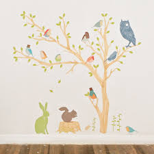 28 wall sticker trees nature tree with birds wall decals wall sticker trees decal8 designer interior wall stickers fabric build a