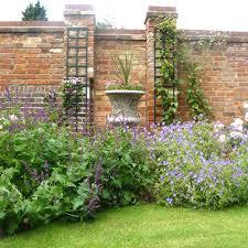 Houzz Brick Walled Garden The Old Brick Feature Boundary Wall - Wall garden design
