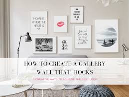 How To Design A Gallery Wall How To Create A Gallery Wall That Rocks U2013 Unique Chic U0026 Stylish