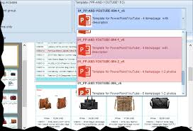 template for youtube product catalog 4 products per page
