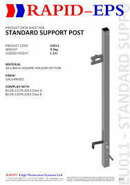 Stair Post Height by Stair Systems Rapid Eps Uk