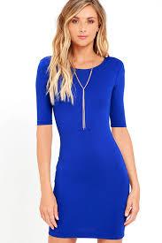 blue bodycon dress bodycon dress royal blue dress sleeve dress 42 00