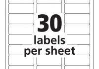 Mailing Label Templates 30 Per Sheet Free Mailing Label Templates 30 Per Sheet Best And Various Templates