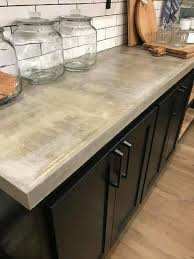 Kitchens With Black Countertops At The Gains Love Concrete Counters Kitchen Pinterest