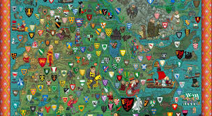 Map Westeros Freakin U0027 Incredible Map Of Westeros From U0027game Of Thrones