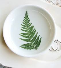 Fern Decor by Large Pressed Feather Fern Ring Dish Home Decor U0026 Lighting