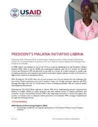 president u0027s malaria initiative liberia u s agency for