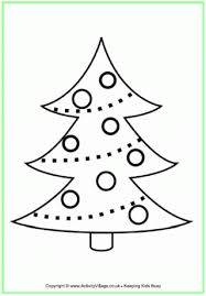 christmas tree colouring christmas crafts children