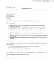 Photographers Resume Sample by Firefighter Resume Template Firefighter Resume Resume Example
