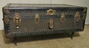ideas for painting a steamer trunk coffee table