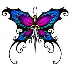 butterfly dagger tattoo design tattoos book 65 000 tattoos designs