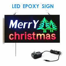 shop open sign lights new merry christmas led shop open signs flicker business led open