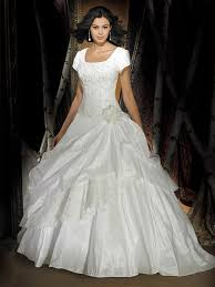 glamorous square satin taffeta ball gown wedding dress mlwk1469