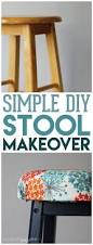 How To Reupholster A Bar Stool Best 25 Bar Stool Makeover Ideas On Pinterest Stool Makeover