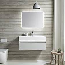 tavistock forum wall hung vanity unit u0026 basin light grey 900