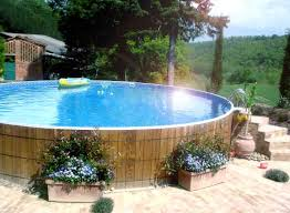 how to decorate around an above ground swimming pool above