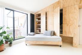 300 square feet room small flat takes advantage of reduced space in a big way