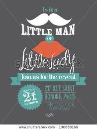 baby shower boylittle man invitation template stock vector