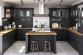 cuisine avec cuisine blanc laque avec ilot get green design de maison