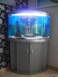 aqua one silver ufo 700 corner fish tank aquarium matching stand