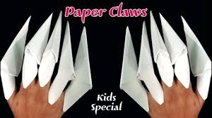 Origami Paper Claws - origami freddy krueger claw images craft decoration ideas