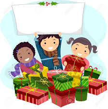 illustration of kids opening christmas gifts stock photo picture
