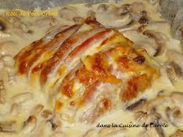 cuisiner un roti de porc au four rôti de porc orloff chignons à la crême dans la cuisine de carole