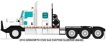 kenworth c500 kenworth c500 8x8 custom sleeper base by misterpsychopath3001 on