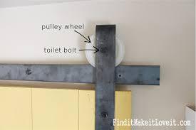 How To Build Barn Doors Sliding Diy Barn Door Track Find It Make It Love It
