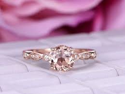 pink morganite 1 ct brilliant pink morganite engagement ring 14k diamond