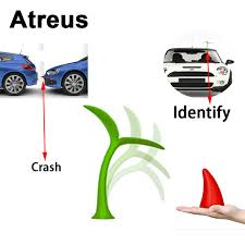 atreus 3d car styling crash funny stickers for volkswagen bmw audi