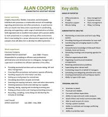 Examples Resume by Administrative Assistant Resume U2013 8 Free Samples Examples Format