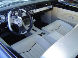 Custom Car Interior Design by Frank U0027s Rods Upholstery Barracuda Custom Leather Interior By