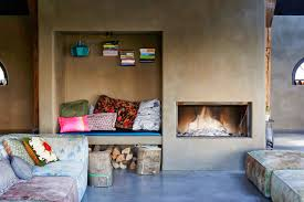 Barns Turned Into Homes by Barns Converted Into Homes With Simple Sofa And Fire Place Design