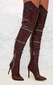 brown biker boots women u0027s boots shoes online prettylittlething usa