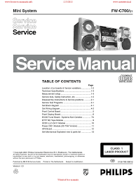 philips fwc700 service manual signal to noise ratio distortion