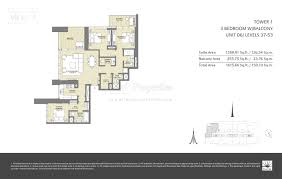 floor plans downtown views 2 by emaar properties