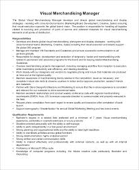 Resume Sample For Merchandiser Visual Merchandiser Description Resume 28 Images Merchandiser