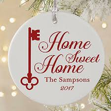 personalized home sweet home ornament