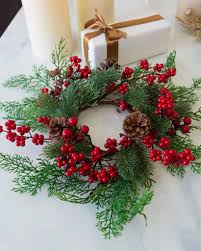 flower candle rings christmas candle rings set of 3 balsam hill