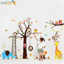 Aliexpresscom  Buy Large Size Animal Wall Stickers For Kids Room - Kids rooms decals
