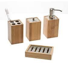 Bathroom Countertop Accessories by Bamboo Countertop Bathroom Set The Container Store