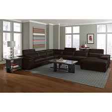 Value City Furniture Living Room Sets American Signature Furniture Ventana Ii Leather 4 Pc Sectional