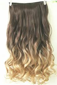 ombre hair extensions clip in 22 clip in hair extensions ombre wavy curly dip dye 6