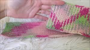 knit argyle color pooling