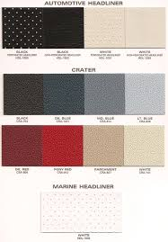 lexus interior color chart products u0026 color charts u2014 headliner mart