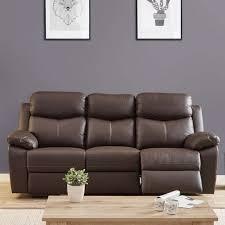 canapé relax electrique 3 places canapé relax électrique 3 places cuir brun esther l 211 x l 93