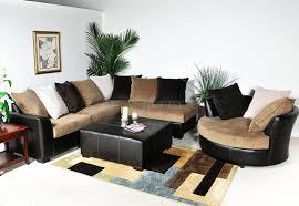 Modern Sectional Sofas Microfiber Multi Tone Fabric Modern Sectional Sofa W Optional Items