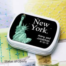Nyc Wedding Favors by New York Personalized Mint Tins New York Wedding Favors