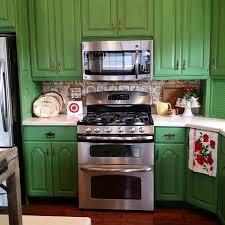 green chalk paint kitchen cabinets